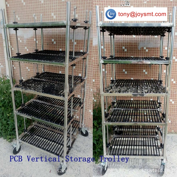 ESD PCB Vertical Storage Trolley