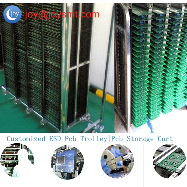 Customized ESD Pcb Trolley|Pcb Storage Cart for SMT Workshop